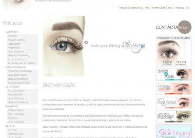 Web para proveedor de cosmética