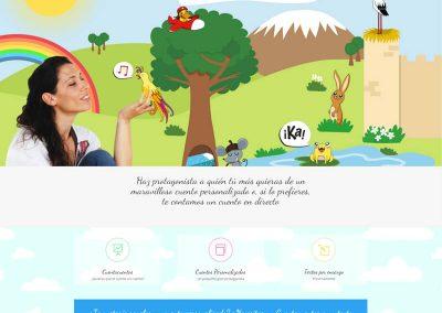 Diseño web para tienda de cuentos infantiles