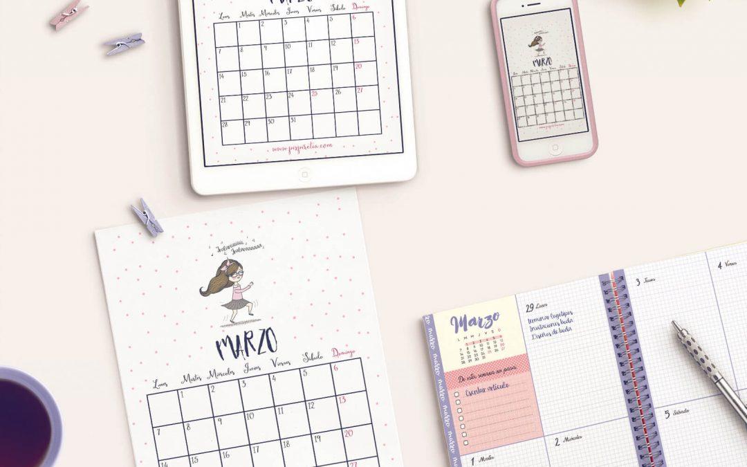 Calendario marzo 2016 descargable