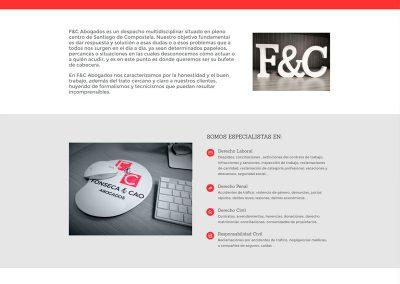 Diseño web para Fonseca & Cao Abogados