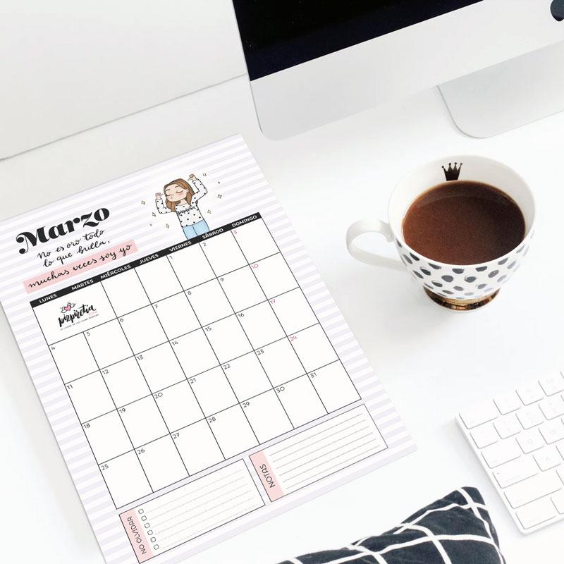 Planificador descargable e imprimible para marzo 2019 de Pizpiretia